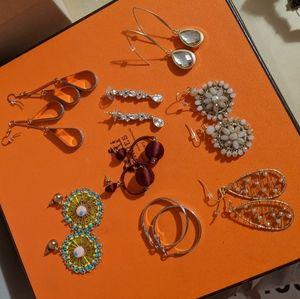 Earring Lot (8 pairs of earrings)